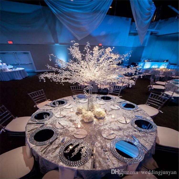 Yeni moda 90cm 35inch Kristal Düğün masa Akrilik Ağacı Centrepiece Düğün Süsleme Parti Süsleri Olay Dekor