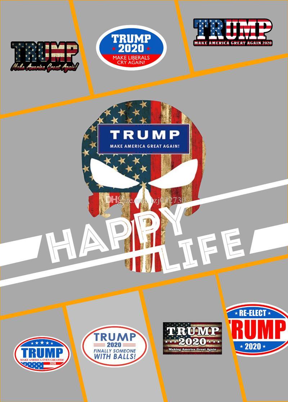 Donald Trump 2020 adesivos de carro adesivos mantenha tornar a América Grande decalque para itens Car Styling Veículo Paster Novidade Trump Adesivos A249