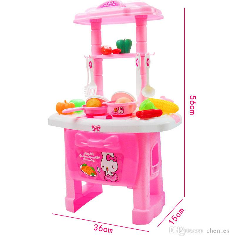 2019 Mini Kitchen Set Children Pretend Play Cooking Tools Set Plastic  Cookware Pot Pan Accessories Kitchen Toys Baby Puzzle Doll From Cherries,  $35.18 ...