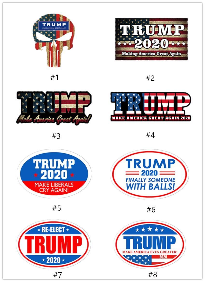 2020 Trump autocollants de voiture 2020 élection présidentielle autocollant Donald Trump 7styles autocollant pour voiture PVC Étiquette striée adhésif A07