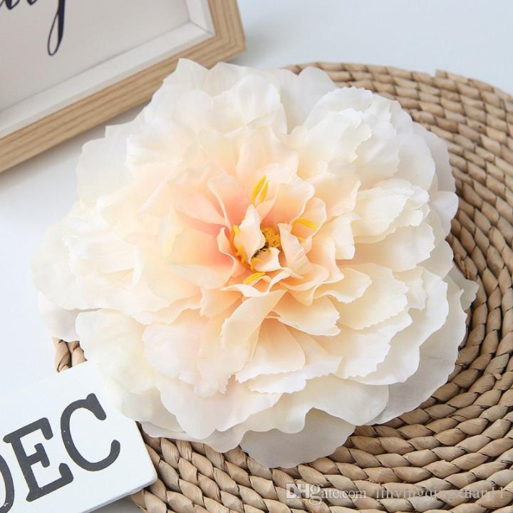 Alta calidad 16 cm artificial peonía cabeza de flor decoración simulación cabeza de peonía DIY boda fiesta familiar de la flor decoración