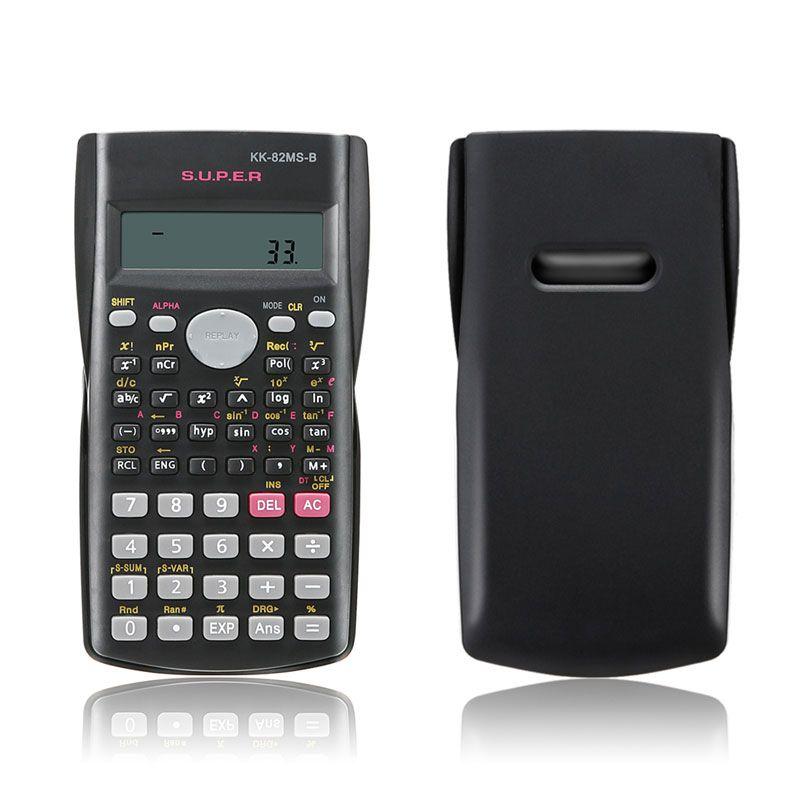 Handheld Student's Scientific Calculator 2 Line Display 82MS-A Portable Multifunctional Calculator for Mathematics Teaching UUI098