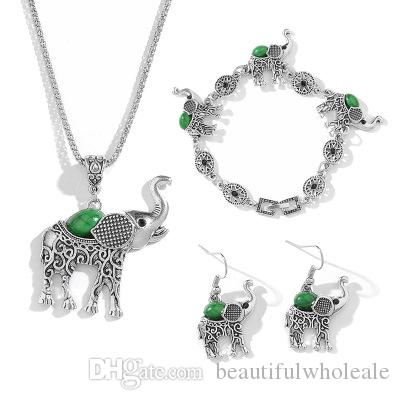 ciondolo elefante Argento creativo PENDENTE COLLANA a forma di ciondolo collana bracciale orecchini gioielli regalo speciale spedizione gratuita