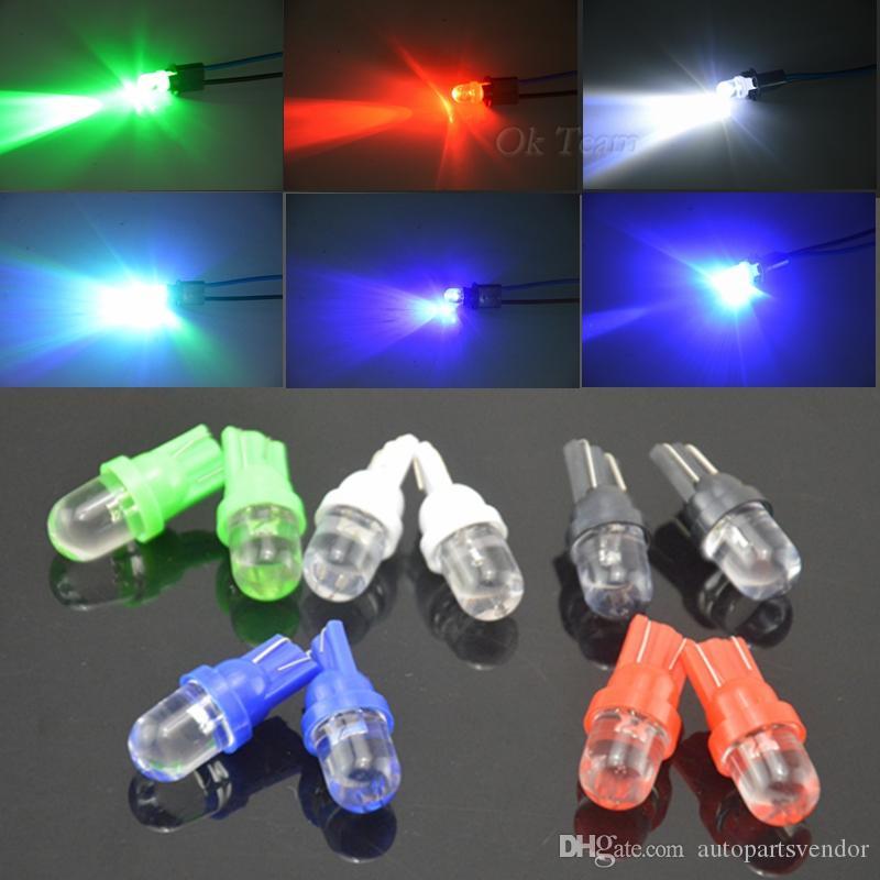 100pcs / Lot Evrensel T10 LED W5W 158 168 194 501 12V Otomobil için LED Yan Paneli Kama Ampuller 5 Renk Mevcut Ücretsiz Kargo