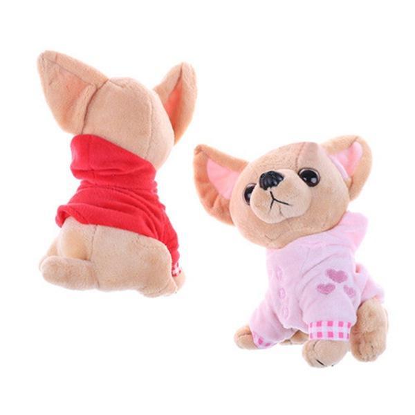 1Pcs 17cm cucciolo di Chihuahua Kids Toy Kawaii di simulazione Animal Doll regalo di compleanno per ragazze bambini svegli Stuffed Dog peluche