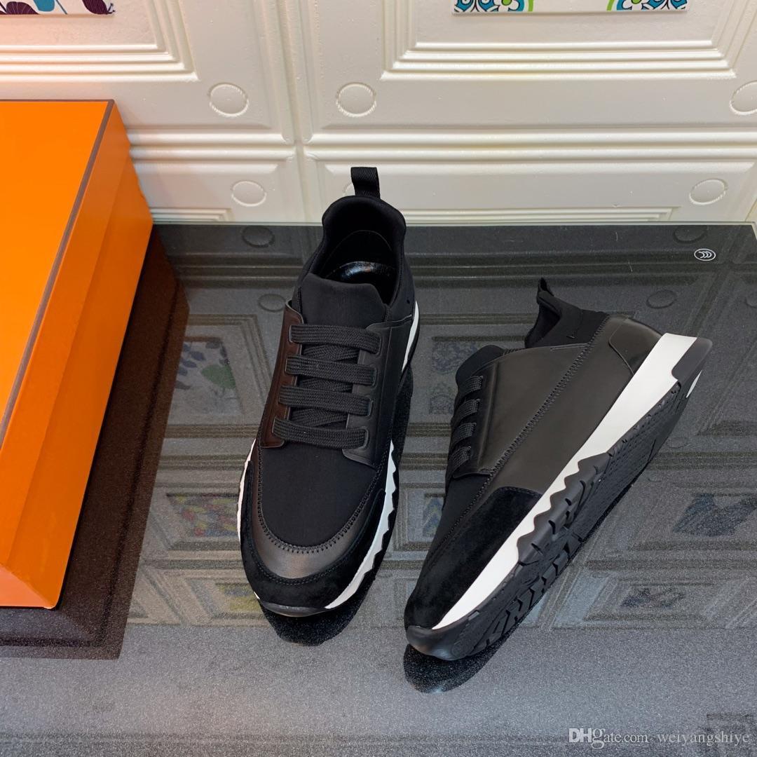 أحذية عارضة أعلى جودة في الهواء الطلق قليلة قص المرأة حذاء رياضة حذاء تنفس أنيق أسود المطاط وحيد عارضة سميكة أسفل حجم 35-40