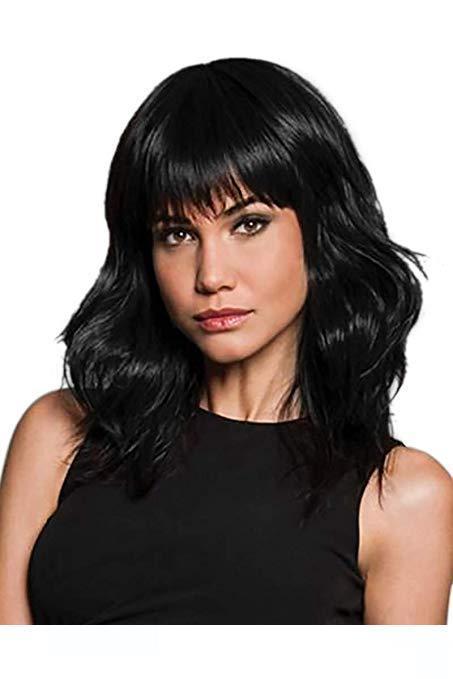 A Конец Natural 100% девственницы человеческих волос естественная волна Wigss с челкой Бразильская фронта шнурка человеческих волос волны Wigss 180% Плотность (16 Quot;