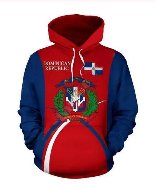 Mens Designer Hoodies für Frauen Männer Paare Sweatshirt Lovers 3D Dominikanische Republik Hoodies Coats Hoodies Tees Kleidung RR049