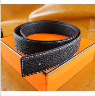 Diseño de lujo de los hombres de negocios H hebilla de cinturón liso Cinturón para hombre hebilla de la manera Correas de lujo libre del envío