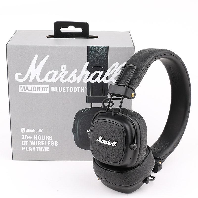 Marshall Major III 3.0 Cuffia Bluetooth Bluetooth con microfono Deep Bass Hi-Fi DJ Headset wireless Box di vendita al dettaglio DHL spedizione gratuita
