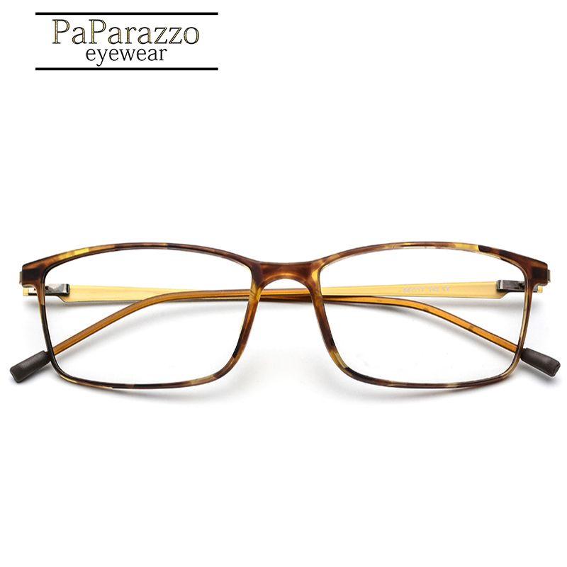 بابا TR90 سبيكة إطار نظارات قصر النظر الرجال زجاج العين وصفة طبية نظارات إطارات 2019 الكورية NO برغي بصري نظارات 9855 T200428