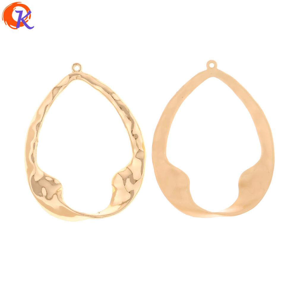 wholesale 50Pcs 37*48MM Jewelry Making/Earring Connectors/Drop Shape/Hand Made/DIY Earring Accessories/Earring Findings