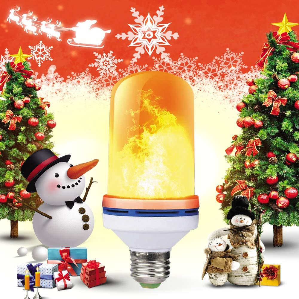 4 mode + gravity sensor flame light E27 LED flame effect fire bulb 8W flashing simulation atmosphere decoration lights Christmas Halloween