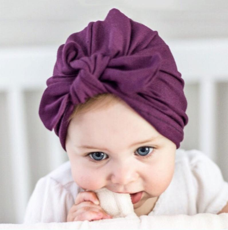 Selling Baby Cute Hat Knotted Ears Model Cotton Tie Children Kids Cap Headwear For Girl And Boy Baby New Hot