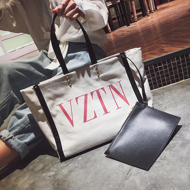 Designer-2018 neuer Art-Damen-Buchstabe-Segeltuch-Schulter-Einkaufstasche-Designer Cross Body Purse Daidai // 9