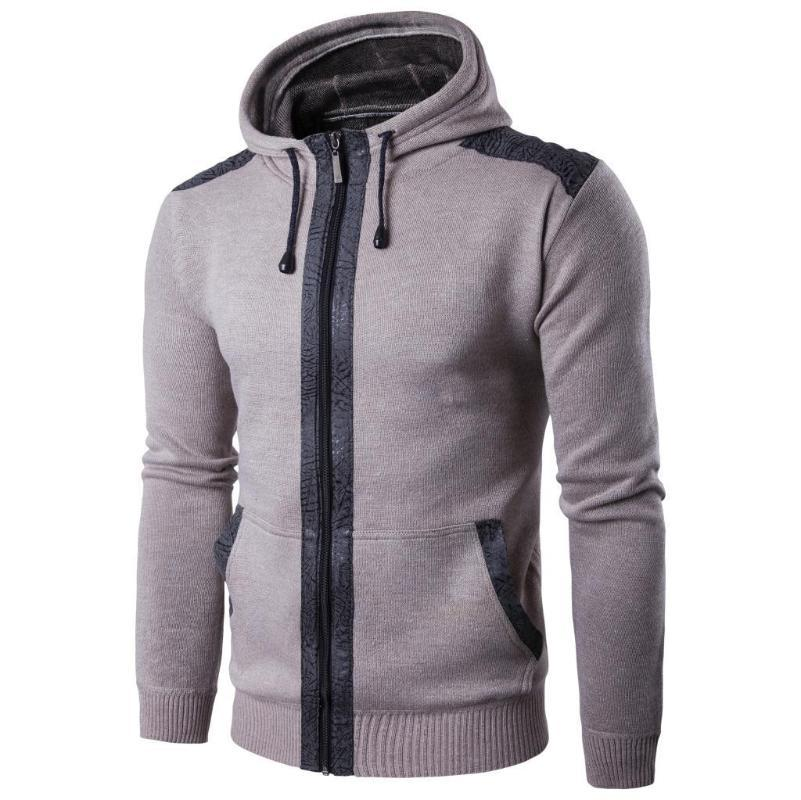 New Fashion Cardigan Brand Clothing Autumn Winter Wool Men Casual Hoodid Sweater Top Loose Zipper Knitted Dropshopping