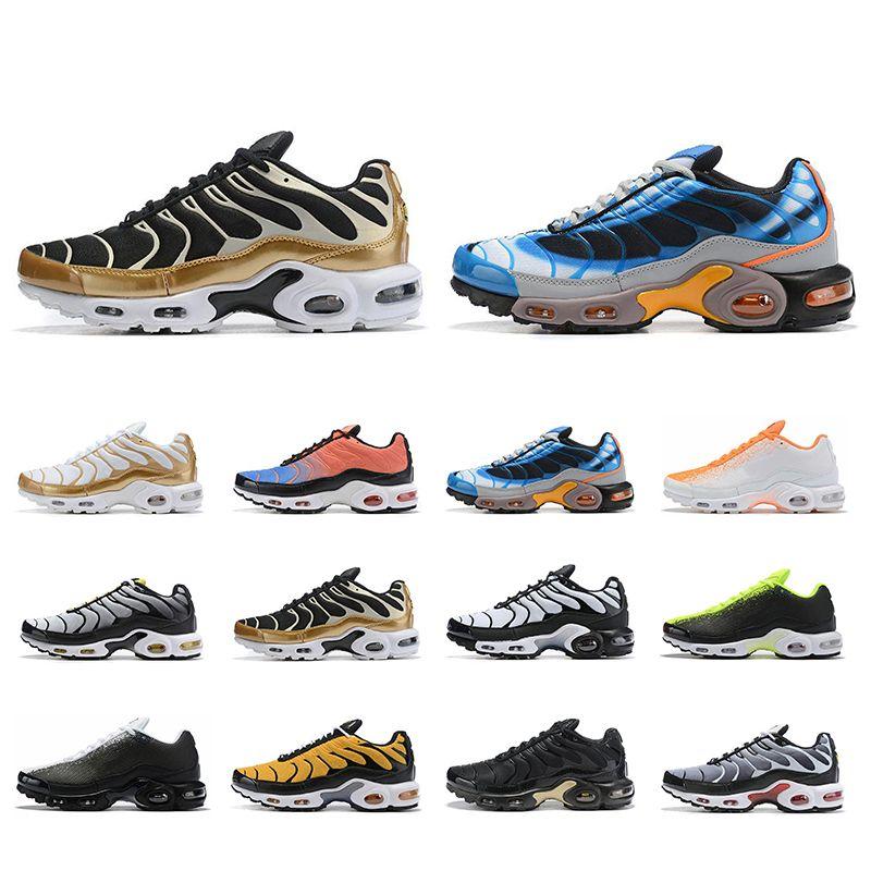 Las zapatillas deportivas 2019 nike air max plus TN Utral BLACK Verde naranja para hombre SE Zapatillas Chaussures Athletic Sports
