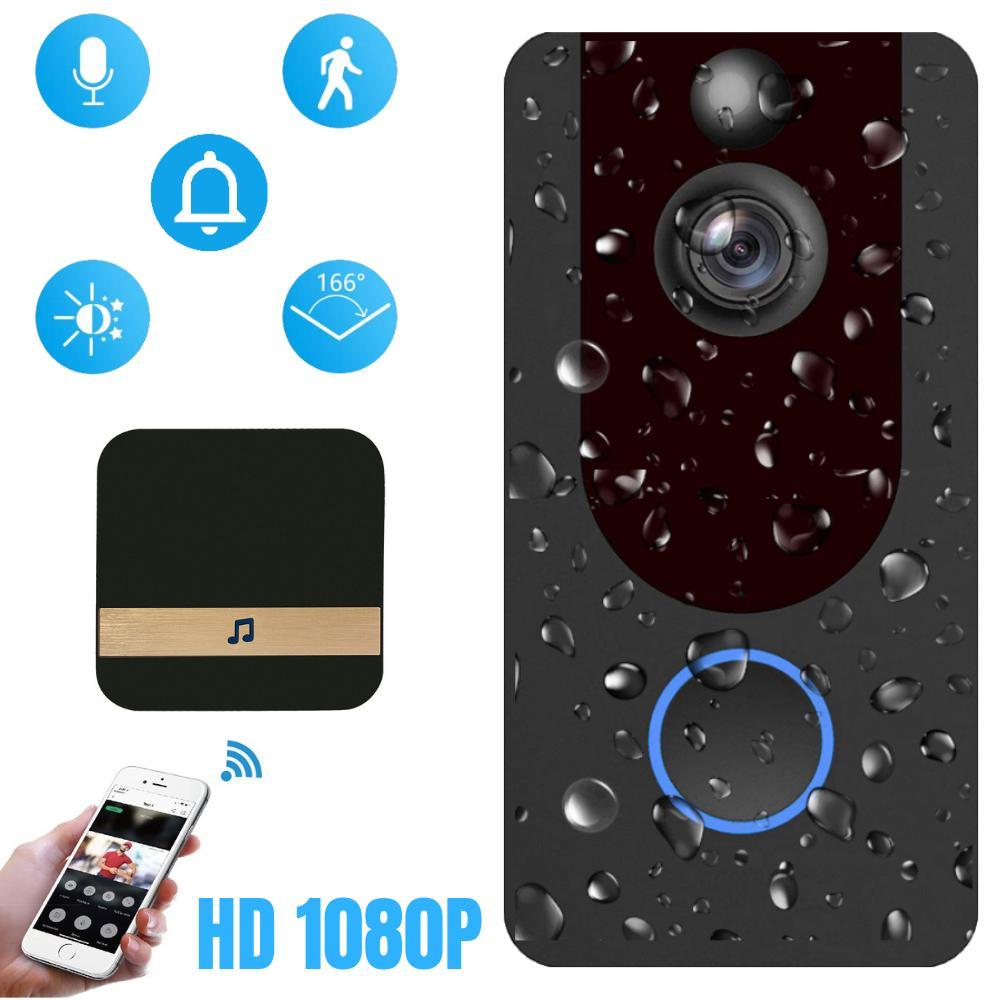 2020 Wifi Smart Door Wirelles Cloud storage 1080P HD Video Intercom Door Bell Security Camera HD night vision door door Door Cloud storage