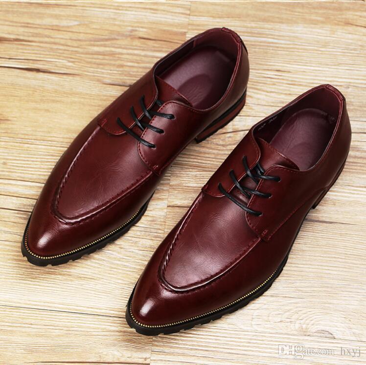 eef2c1eca5 ... Homens de luxo Wholecut Oxford Couro Genuíno Sapatos de Vestido Marrom  Sapatos Pretos Masculinos Apontou Toe ...