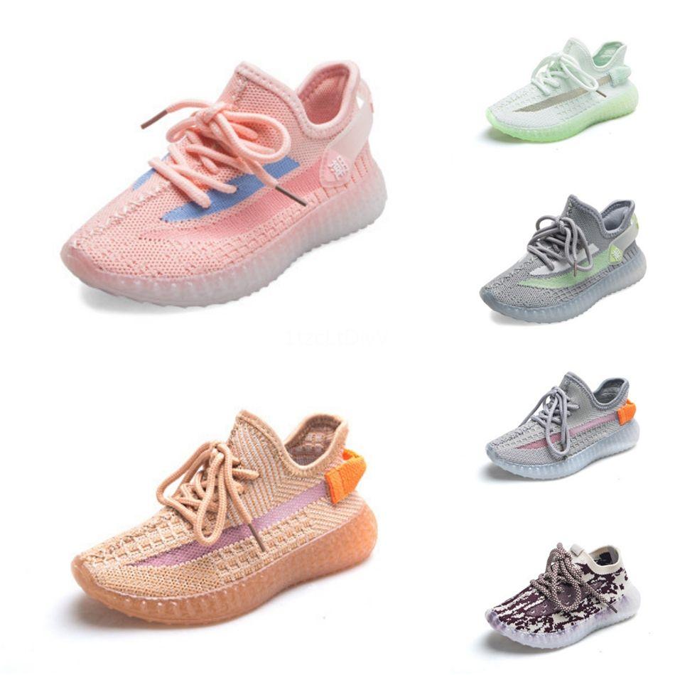 Zapatos para niños Wave Runner 7 0 0 Kanye West zapatos corrientes de la muchacha del muchacho instructor zapatilla de deporte de los niños atléticos Shoesker Zapato del deporte Los niños atléticos Sh # 40