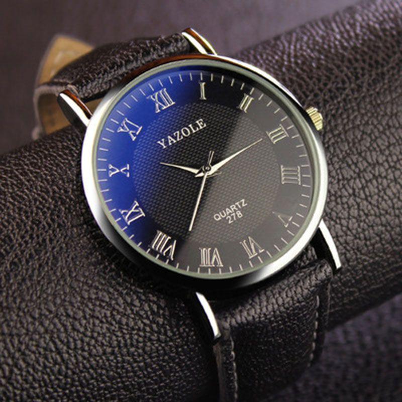 Yazole Relogio Masculino Men Watches Blue Mirror Watch Relojes Hombre High Quality Army Sport Date Analog Quartz watch