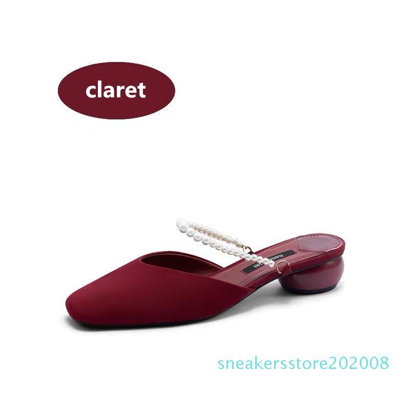 Classic Sandali con tacco grosso tallone in pelle scamosciata progettista scarpe da donna fibbia in metallo per le feste Lavoro Sexy sandali size34-39 S08