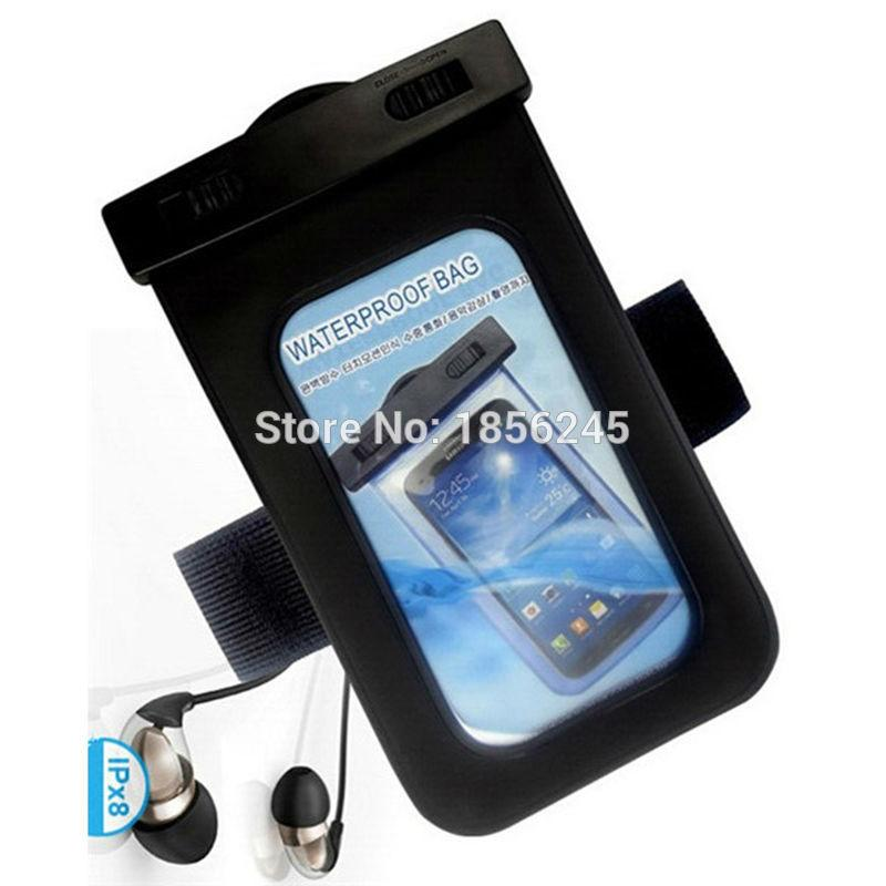 With waterproof earphone For Blu vivo 5 PVC Underwater Waterproof Cell Phone pouch Underwater Bags For Diving Outdoor swimming