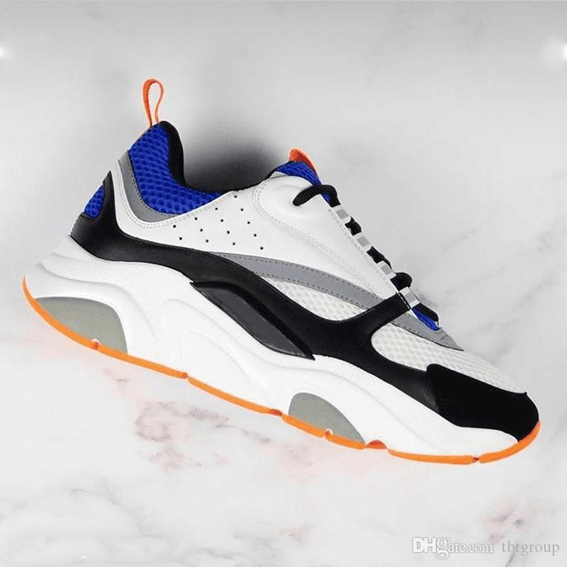B22 حذاء رياضة رجل مصمم أحذية خمر حذاء قماش وجلد العجل المدربين فاخرة للجنسين أعلى منخفض حذاء عرضي 20color لحجم 35-46 الكبير