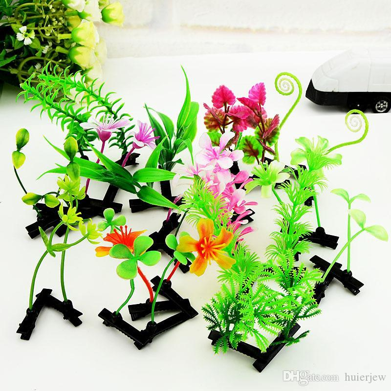 Hairpin Lovely Novelty Plants grass hair clips headwear bud antenna hairpins Lucky grass bean sprout party hair pins Hair jewelry