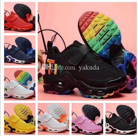 Haut de 2019 TN Tennis d'enfants kid Chaussures garçon meilleurs sports athlétiques chaussures de course pour hommes bottes filles garçons chaussures de marche de jogging gymnase magasins en ligne