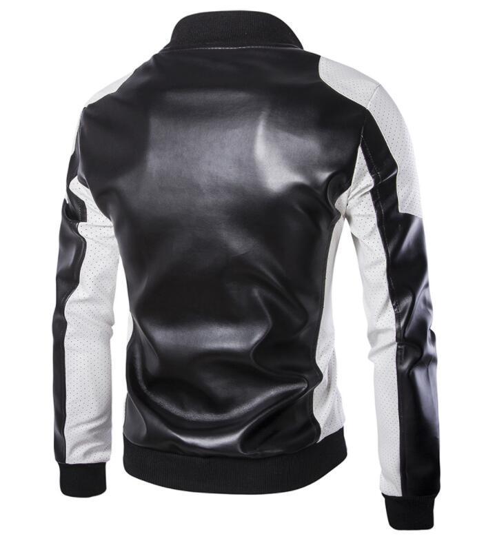 Chaqueta de diseñador de moda para hombre Chaqueta de invierno de cuero sintético con paneles de invierno para hombre Chaqueta impermeable para hombres Talla asiática M-5XL