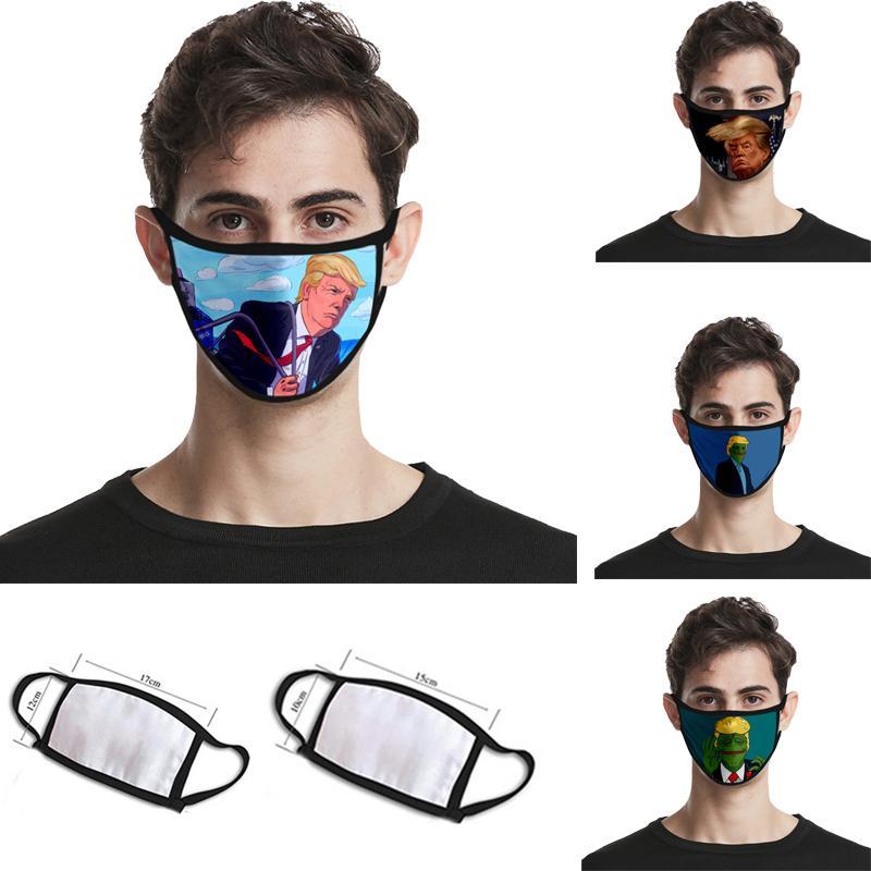 Baskı Maske Evrensel İçin Erkekler Ve Kadınlar 2 Boyutları toz korumalı Yüz Maskeleri Trump Amerikan Seçim Malzemeleri