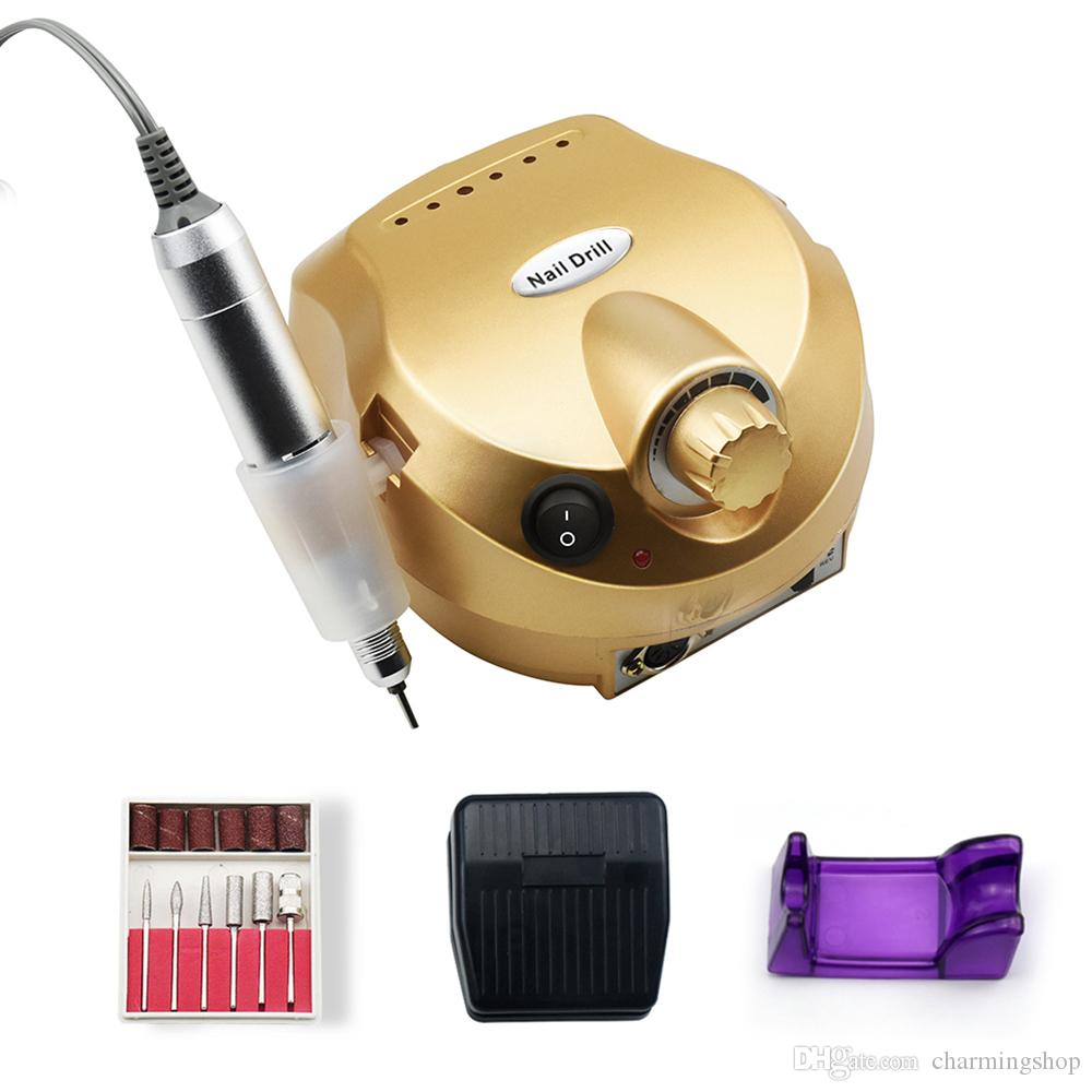 Prix usine Nail Drill machine électrique Drill ongles Polisseuse polissage rpm Deviice 35000 Nail Art Equipment Livraison gratuite