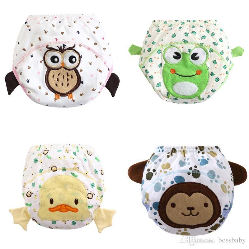 Baby Cartoon Diapers Pants 16 Styles Animal Boutique Cloth Diapers Infant Cotton Waterproof Leakproof Diaper Newborn Cloth Nappy 060409