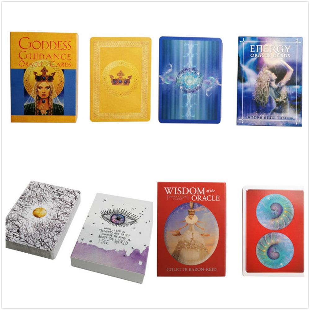 6 styles English Oracle Cards deck , Tarot Cards guidance divination fate board game card game for women