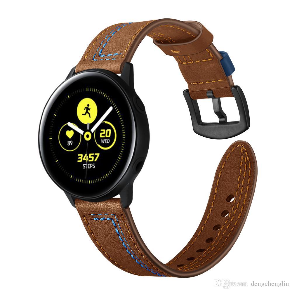 Samsung Galaxy Aktif yedi satırlık deri kayış izle olay yerine kayış spor bilezik kemer ilk katman