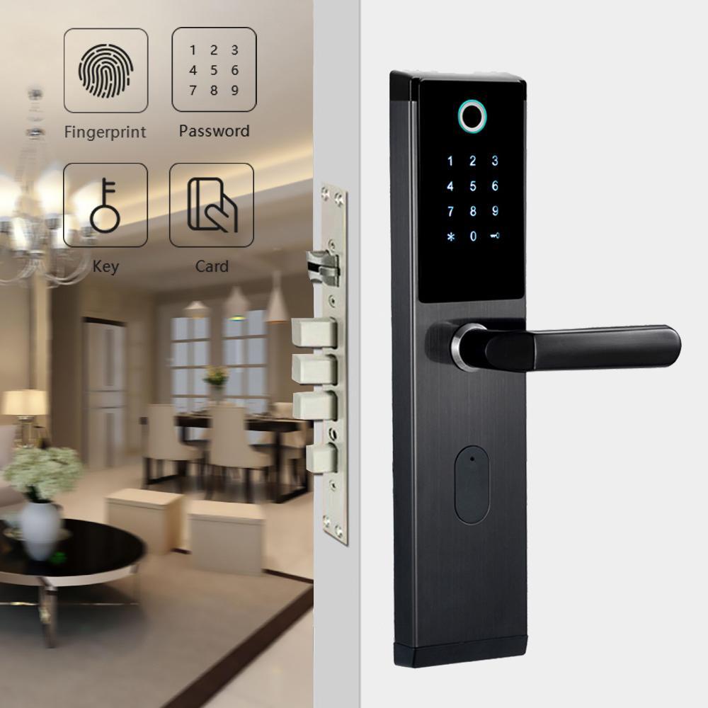 YOHEEN inteligente biométrico cerradura de la huella digital RFID con contraseña Cerradura magnética inteligente de la huella digital cerradura de puerta Y200407