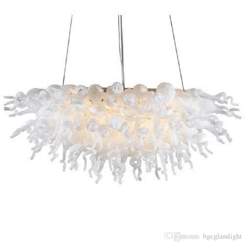 Spezielles Design Geblasene Kronleuchter Lampen Modern Dekorative Glas LED Deckenleuchten Fine Western Stil Licht Italian Crystal Kronleuchter