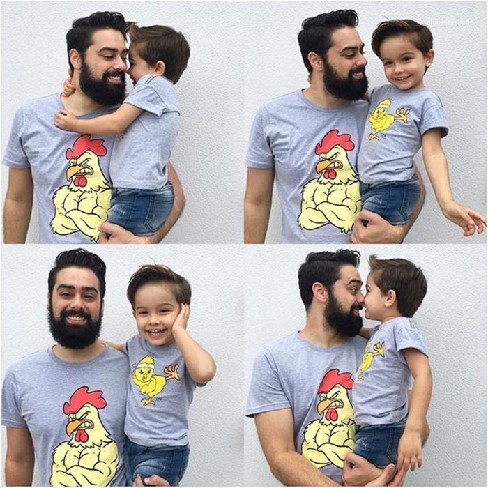 Été Designer T-shirts Poussin ras du cou imprimé court Fashion Style Homme Vêtements Vêtements décontractés Parent Vêtements pour hommes
