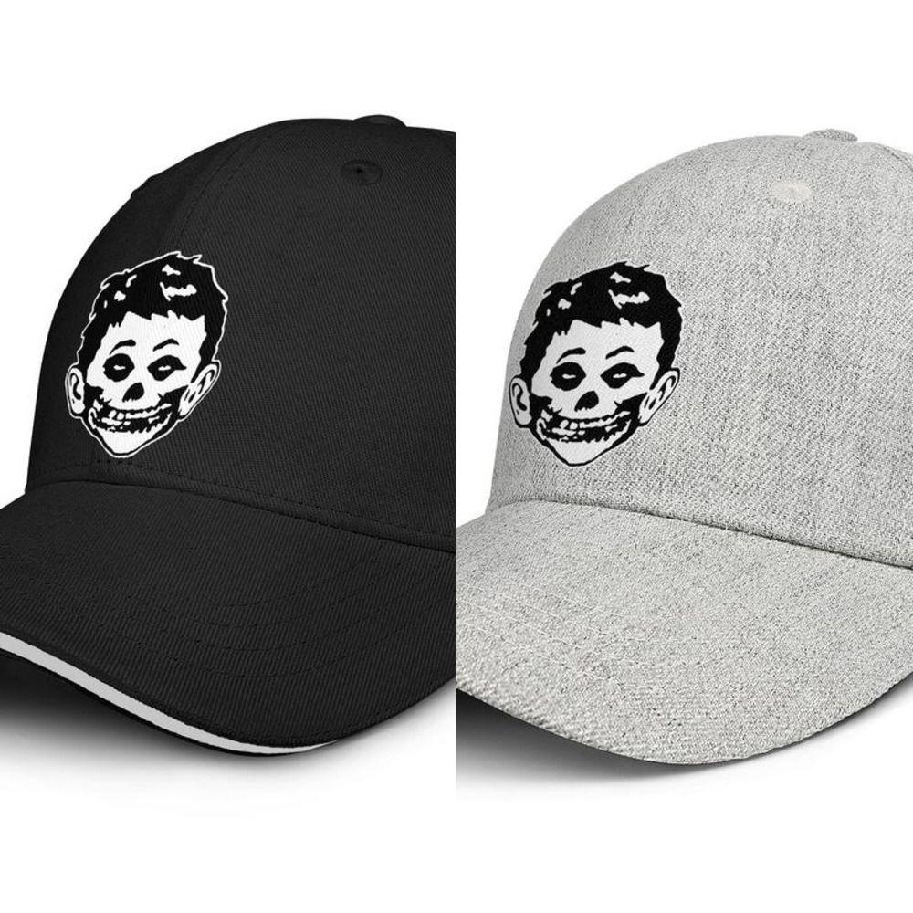 Misfits Horror Punk projeto unisex Snapback ajustável bonés Impresso Sun pesca chapéus pretos Outdoor