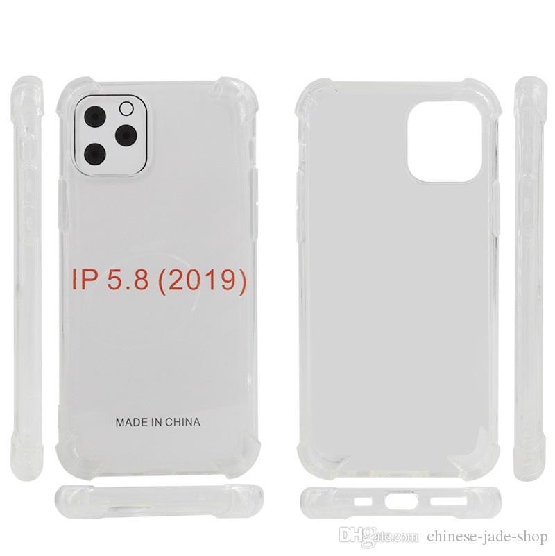 1.5mm Hava Yastığı Anti-Şok Kristal Temizle Yumuşak TPU Kılıf Kapak iphone 12 11 Pro Max XR XS Max 6 7 8 Artı 100 adet / grup Yüksek Kalite
