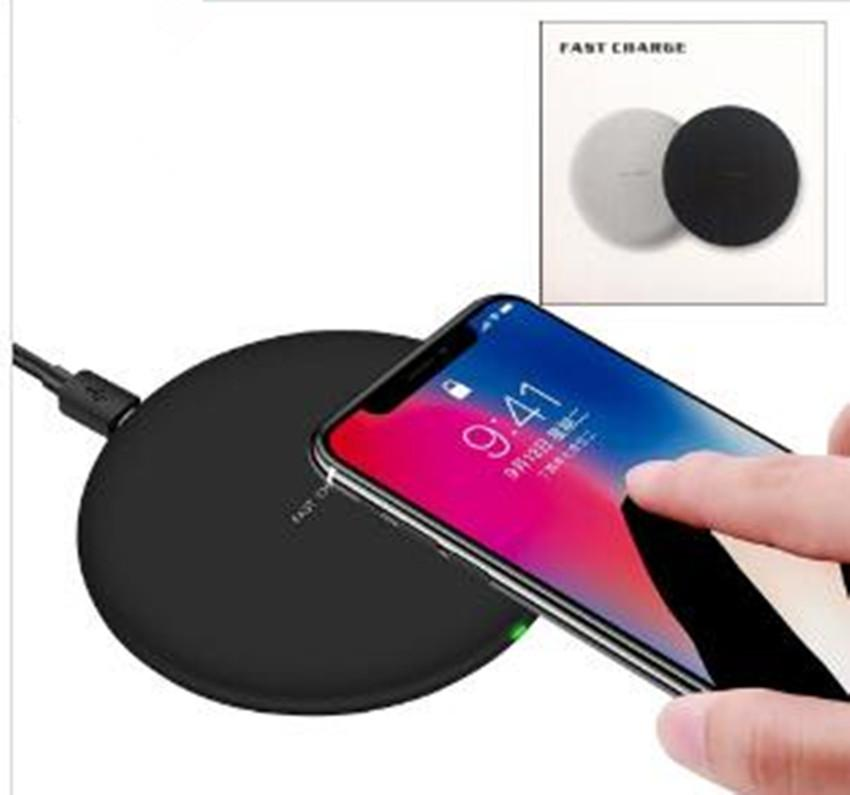 Для Iphone 8 X XR XS Max 9V 1.67 A 5V 2A Fast Quick Qi Charger беспроводное зарядное устройство Зарядка для Samsung Galaxy S9 Plus Примечание 9 с пакетом