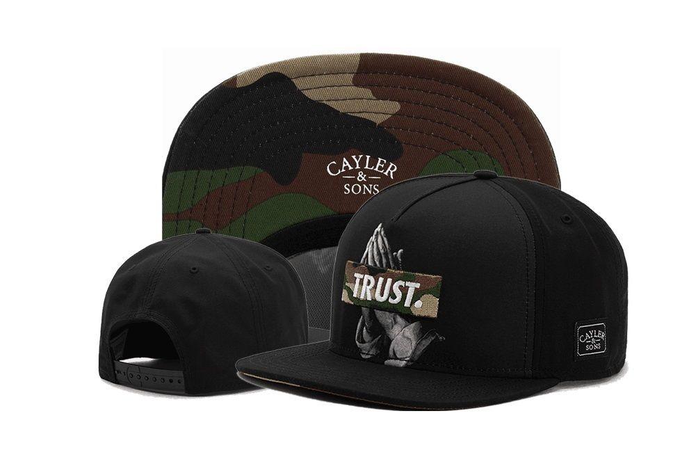 Trust Wave Black Snapback Cayler Sons Caps Pray For BKLYN Pmw Curved Black Adjustable Hats Baseball Snapback Hip Hop for men women Christmas
