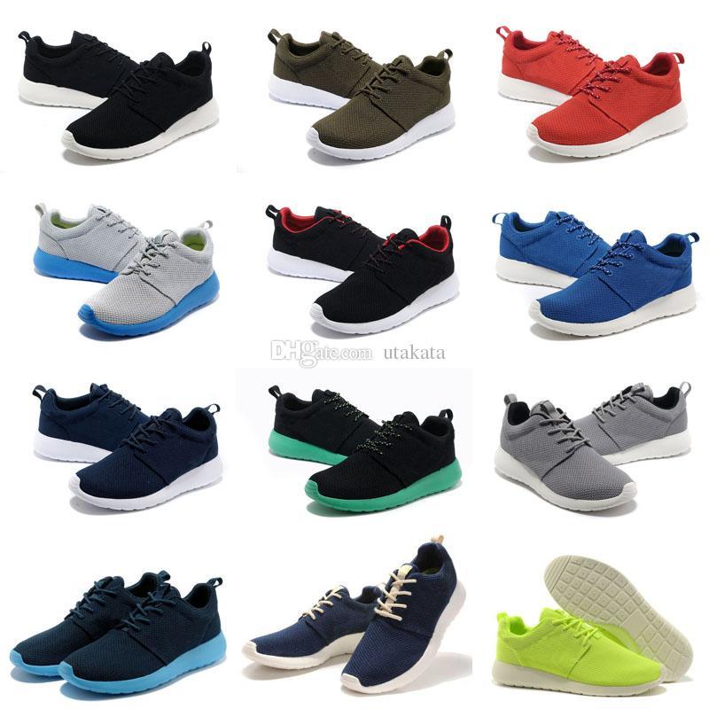 뜨거운 판매 Tanjun 캐주얼 신발 남성 여성 블랙 낮은 경량 통풍 런던 올림픽 망 캐주얼 신발 크기 36-46