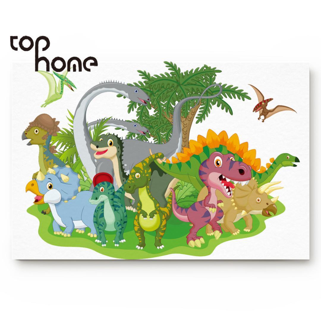 Tophome Renk Dinozor Çizimleri Paspas Giriş Kat Mat Komik Halı Ev Ve Ofis Dekorasyon