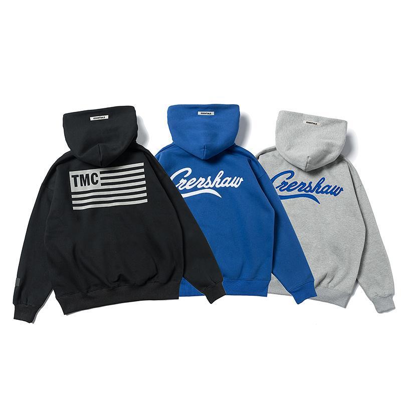 Best Version Fog Essentials L.A Limited Printed Women Men Hoodies Sweatshirt Hiphop Streetwear Men Hoodie Pullover Winter Fleece Y200704
