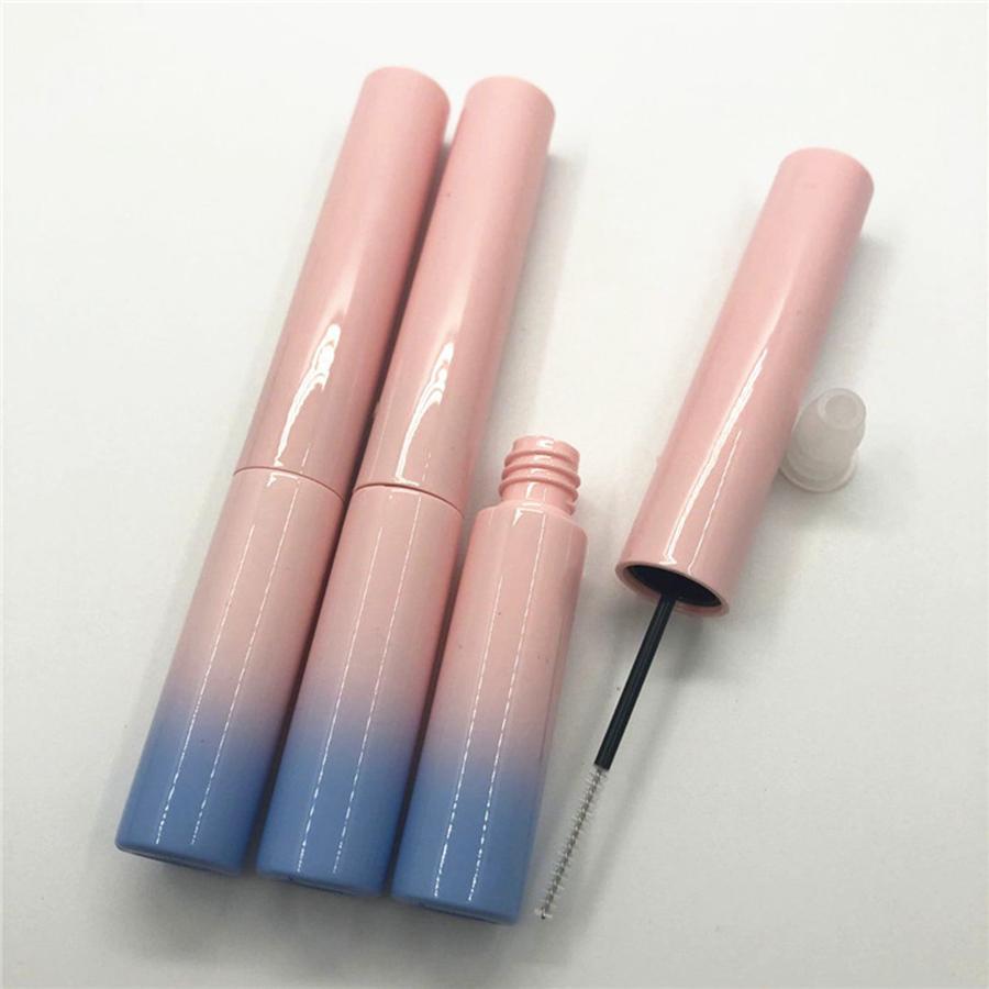 7ml bottiglie di mascara tubo di imballaggio compongono tubo vuoto tubo di mascara portatile gradiente di plastica con ciglia pennello bacchetta RRA1885