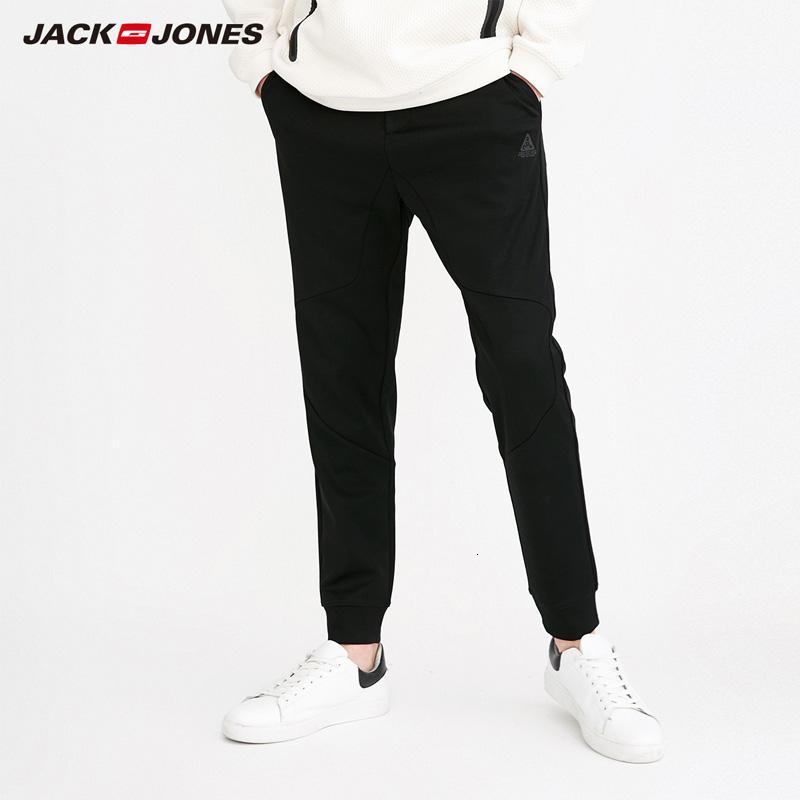 218114524MX190902 | Jack Jones Marka YENİ gevşek düz renk cebi dekorasyon mektup ofset orta bel pantolon erkek konik