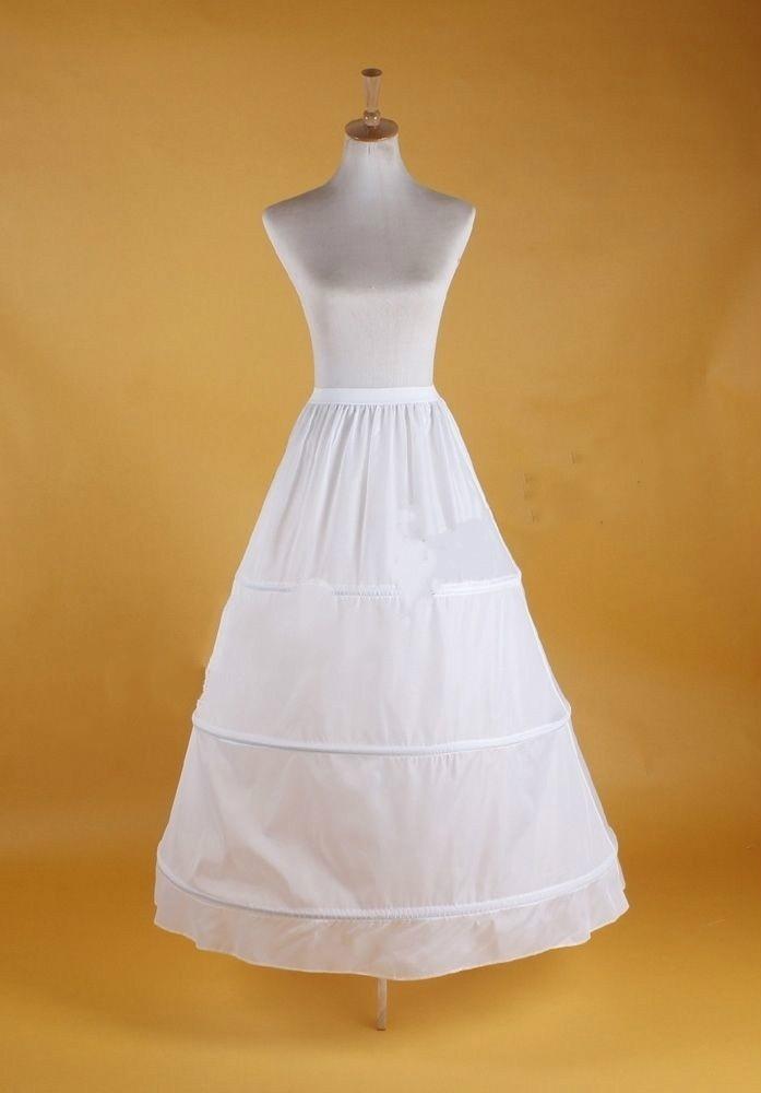 Blanc de jeune mariée Jupon Petticoat Crinoline Costumes Slip Jupes à volants