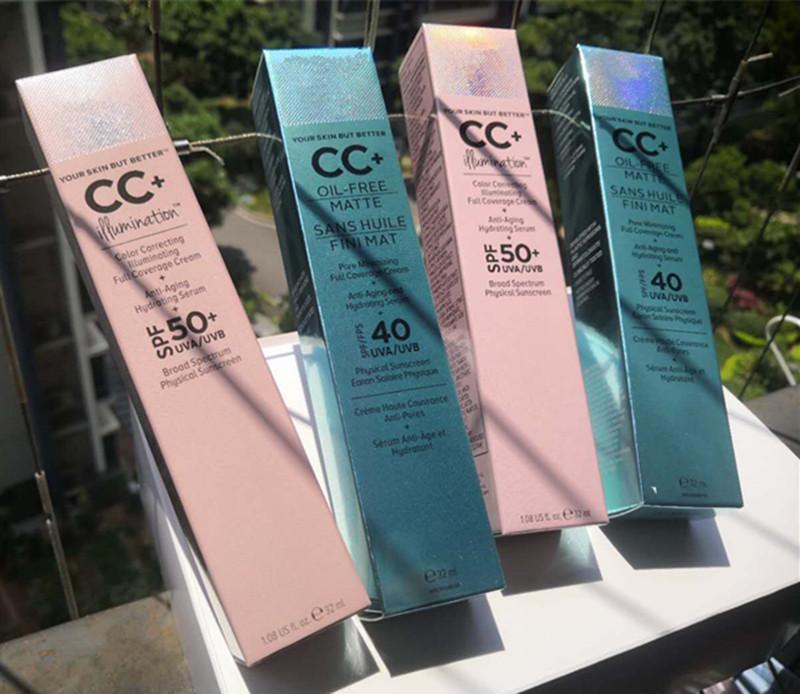 Preço de fábrica Face Makeup Cc creme sua pele, mas melhor cc + creme de óleo livre mate e cc + cobertura completa creme de cobertura hidratante Corretivo de soro 32ml